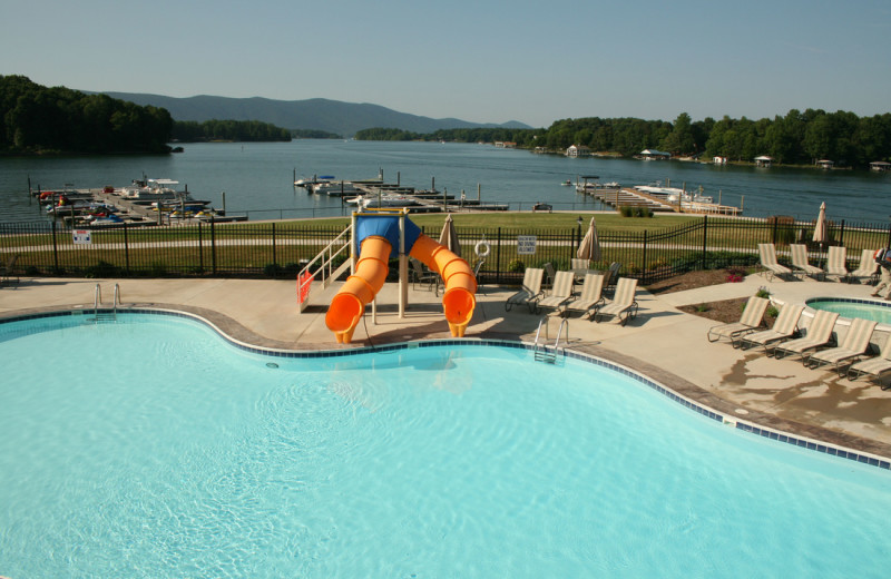 Outdoor pool at Mariners Landing.