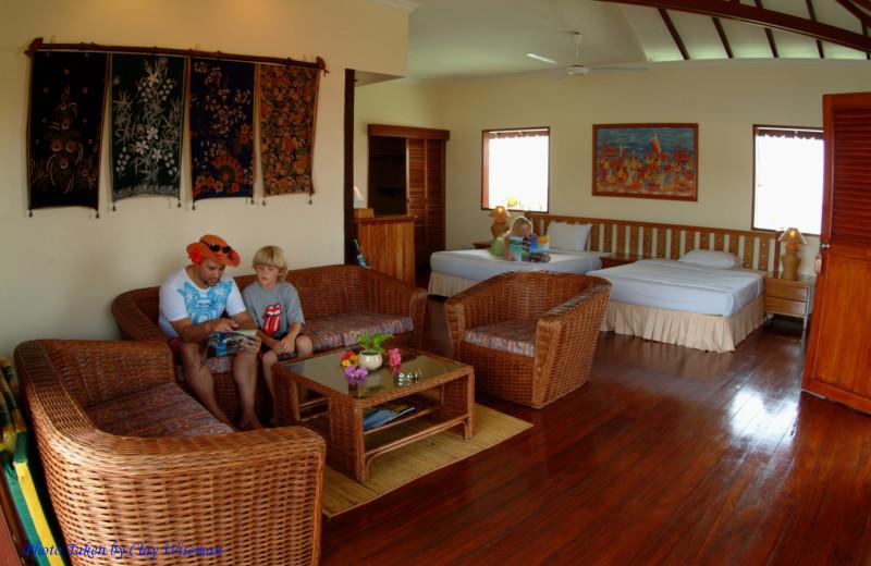 Guest room at Sipadan Water Village Resort.