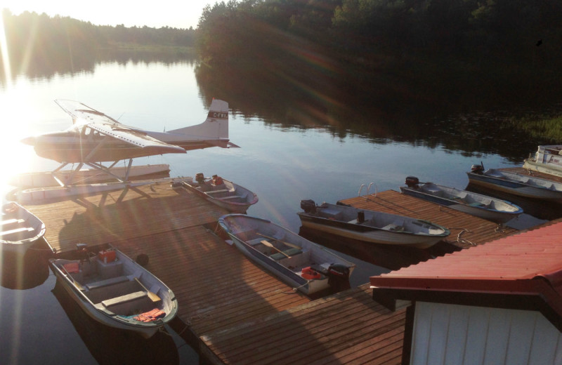 Dock at Crooked Lake Wilderness Lodge.