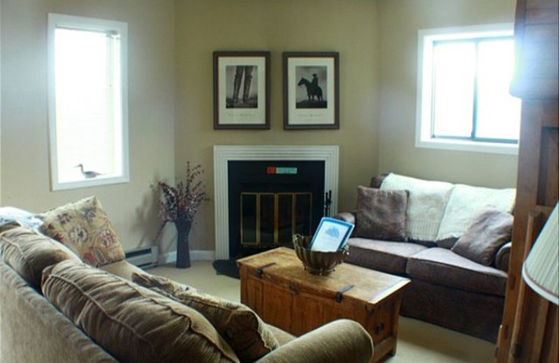 Rental living room at Sugar Ski and Country Club.