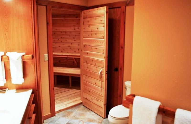 Sauna at Grand Marais Hotel Company.