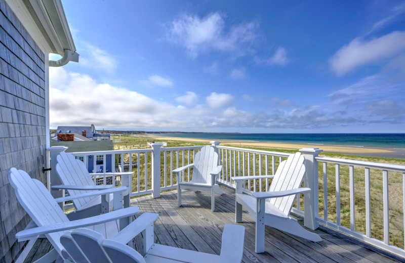 Rental deck at Beach Realty.