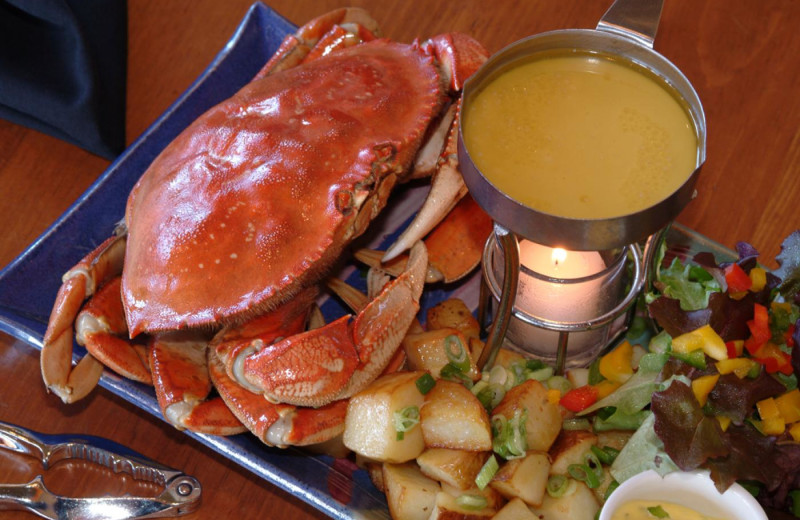Crab meal at Long Beach Lodge Resort.