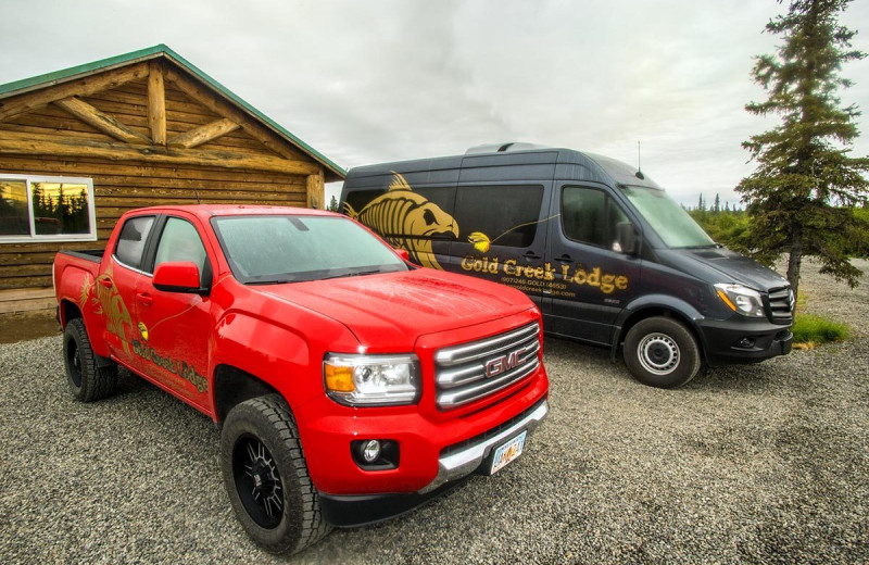 Shuttle services at Alaska's Gold Creek Lodge.