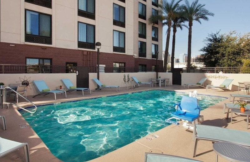 Outdoor pool at SpringHill Suites Phoenix Downtown.