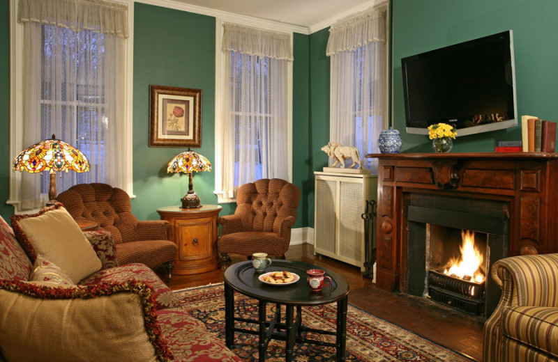 Living room at Inn at Cooperstown.
