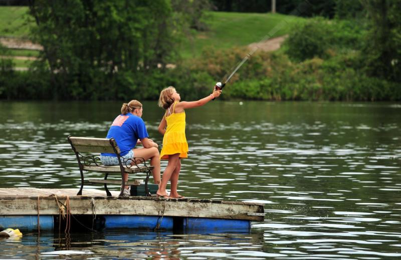 Fishing at Riverside Resort.