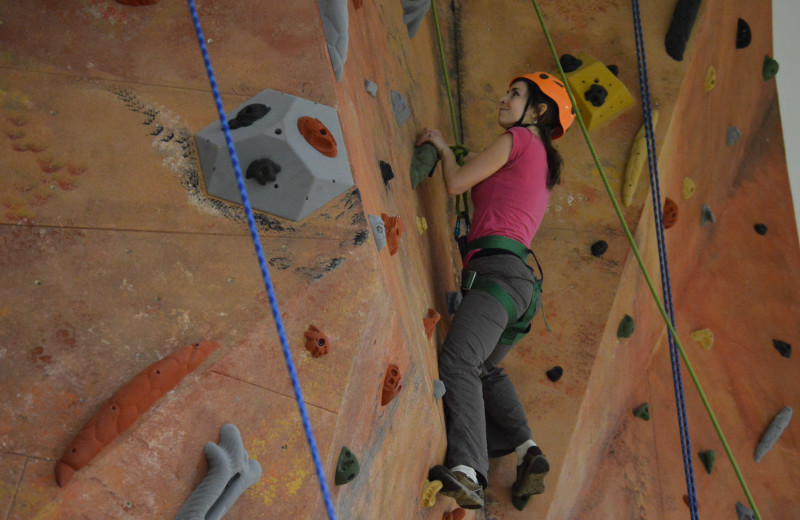 Climbing Wall at Point Lookout Resort and Conference Center