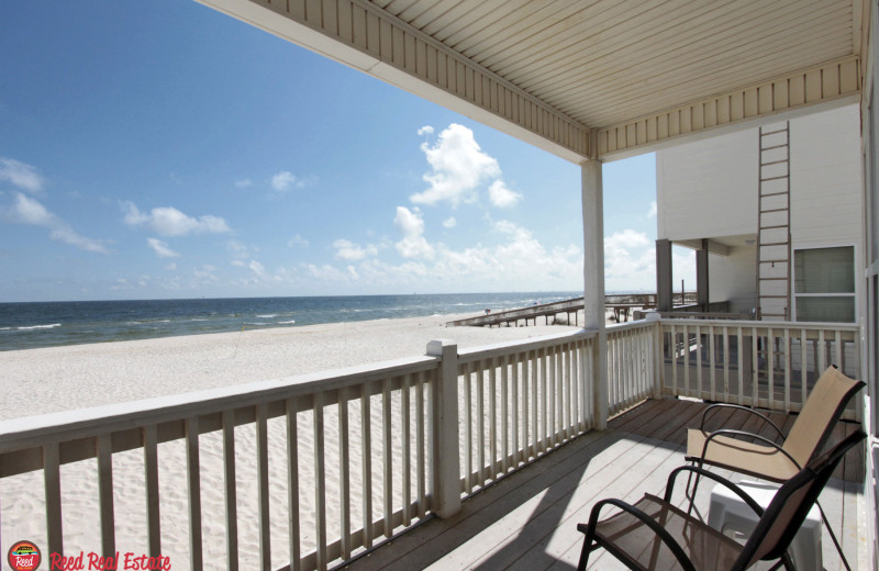 Rental deck view at Reed Real Estate Vacation Rentals.
