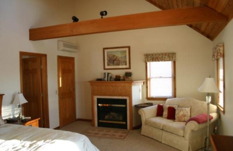 Fireplace room at Seneca Springs Resort.