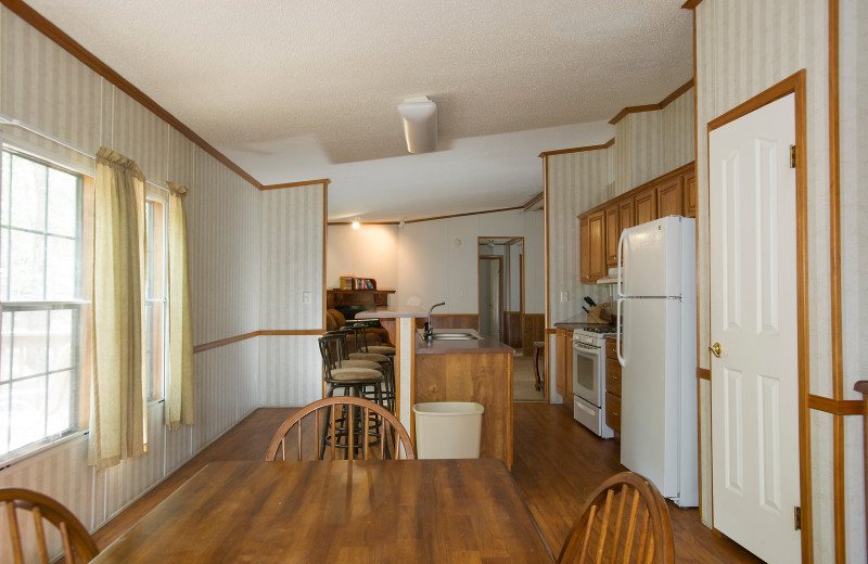 Cabin kitchen at Brady Mountain Resort & Marina.