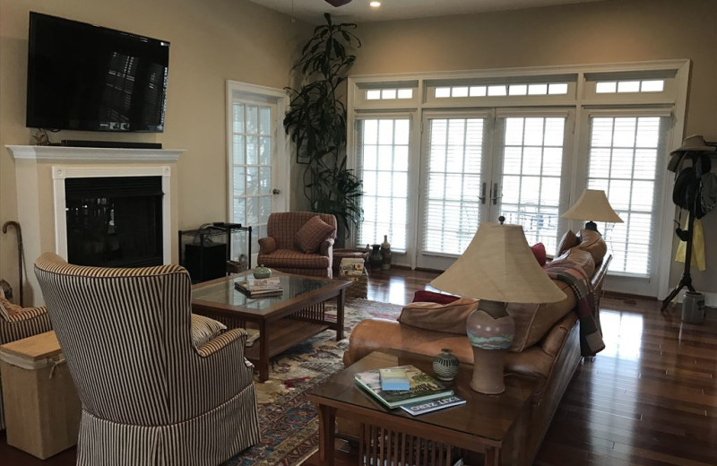 Rental living room at Jersey Cape Realty