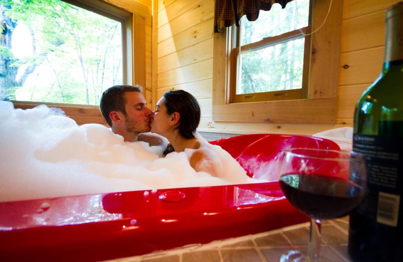 Romantic cabin getaways at Country Road Cabins.