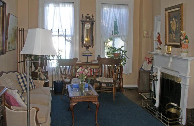 Sitting area at A Victorian Garden Inn.