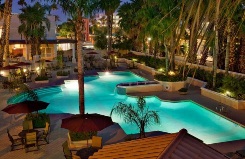Outdoor pool at Sheraton San Marcos Golf Resort.