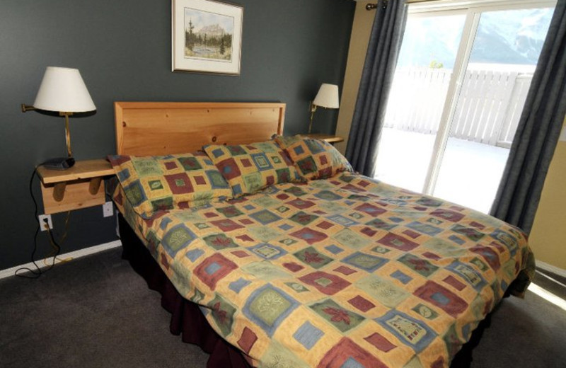 Guest room at Canadian Rockies Chalets.
