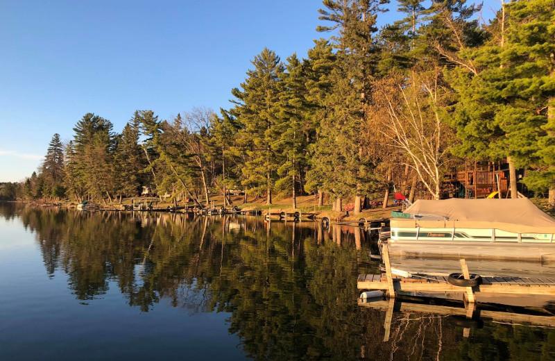 Dock at Moore Springs Resort.