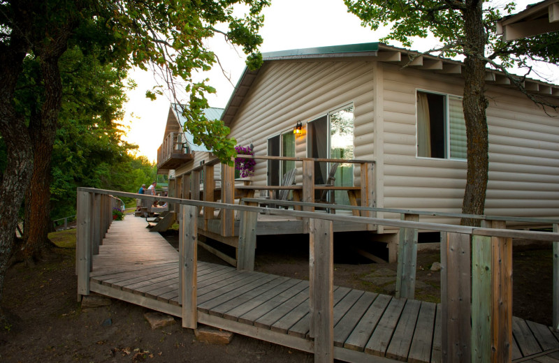 Cabin at Tetu Island Lodge.