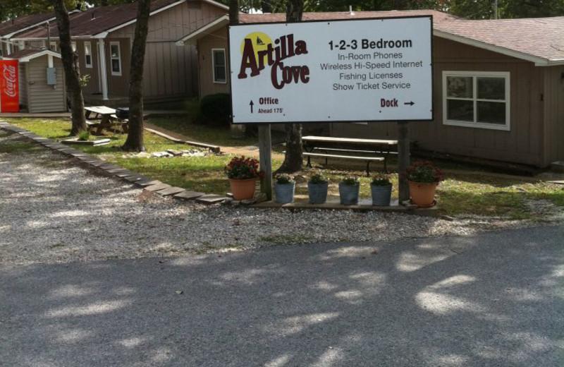 Outside Artilla Cove Resort.