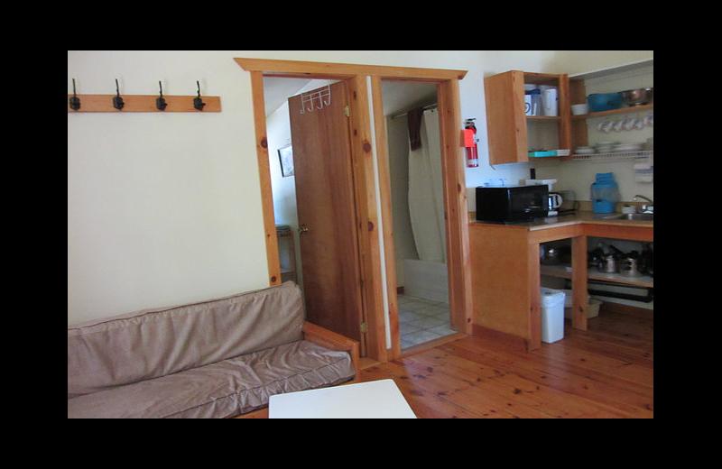 Cabin interior at Black Rock Resort.