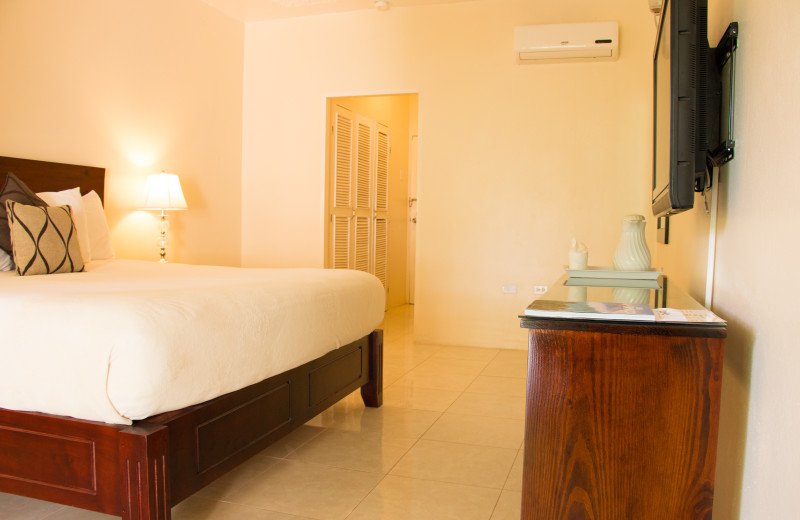 Guest room at Travellers Beach Resort.