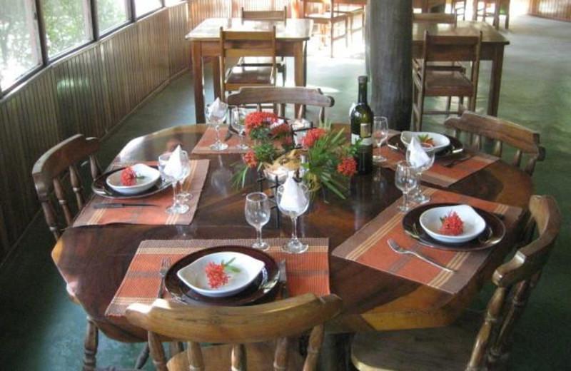 Dining at Hotel Rancho Suizo Lodge.