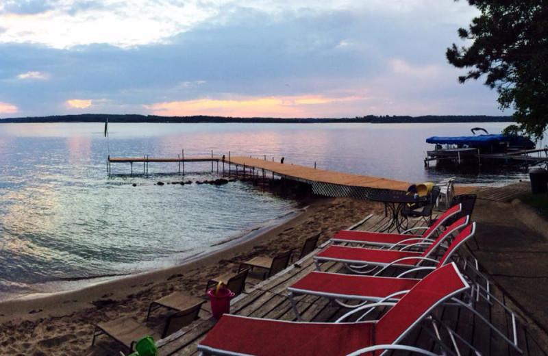 Lake view at Beacon Shores Resort.