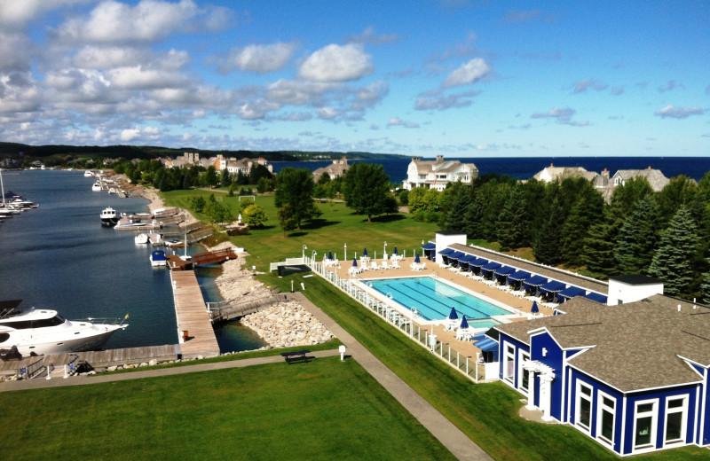 Outdoor pool at Bay Harbor Resort and Marina.