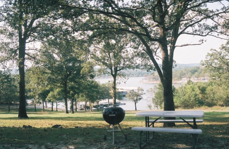 Picnic area at Indian Trails Resort.