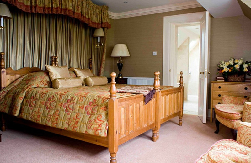 Guest room at Glenmorangie House.