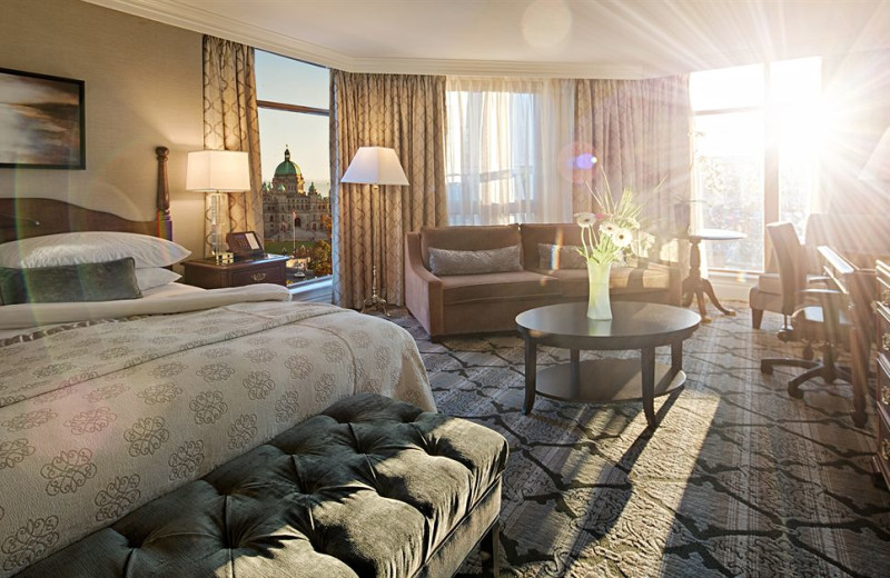 Guest room at Magnolia Hotel & Spa.