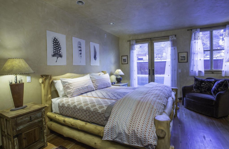 Rental bedroom at Welcome to Telluride Vacation Rentals.