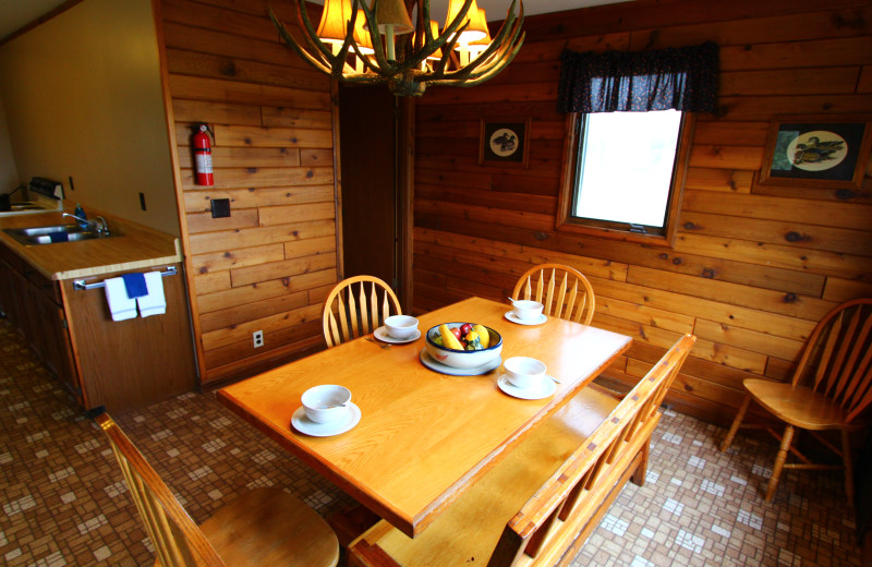 Guest dining room at Angle Outpost Resort & Conference Center.