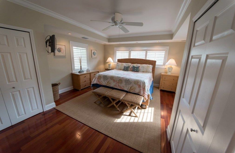 Rental bedroom at Keys Holiday Rentals, Inc.