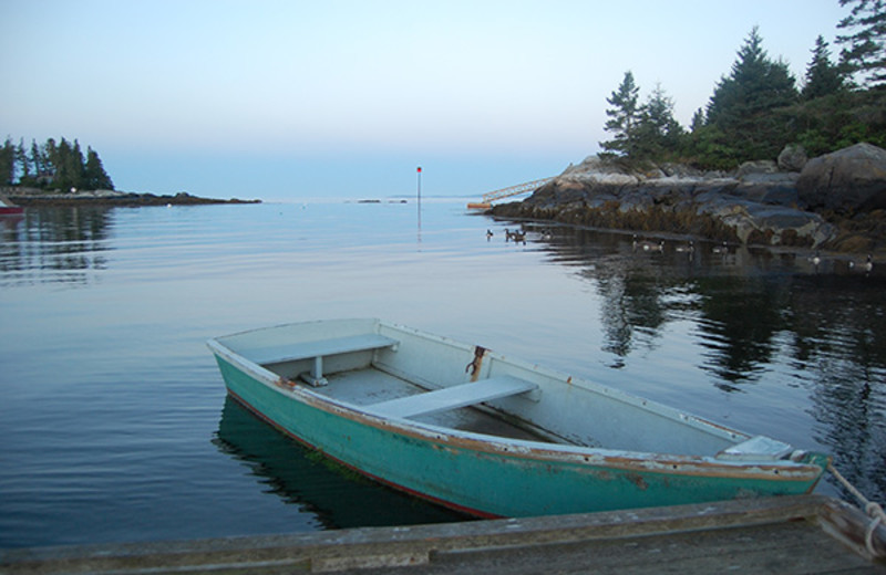 Boat at Newagen Seaside Inn.
