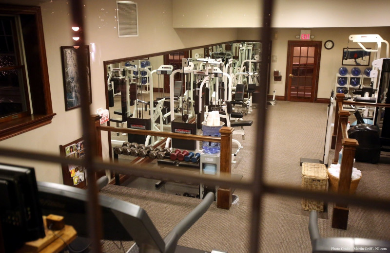 Fitness room at Mirror Lake Inn Resort & Spa.