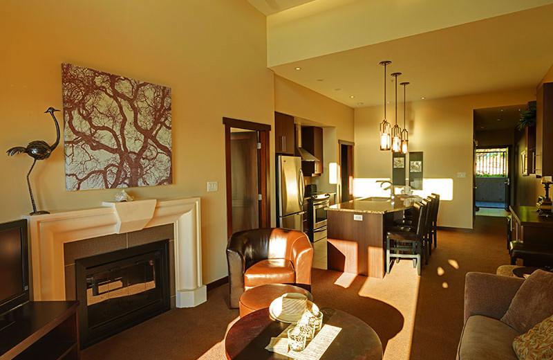 Suite living area at Sunrise Ridge Resort.