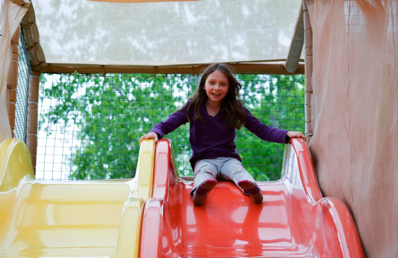 Playground slide at Basswood Country Resort.