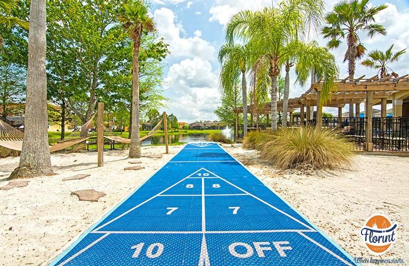 Rental shuffle board at Florint Vacations.
