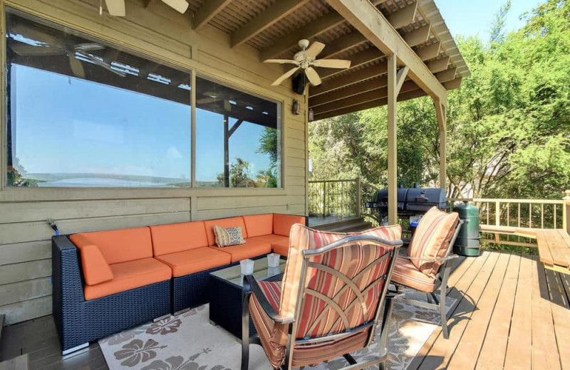 Deck at Serene Hill Country Home.