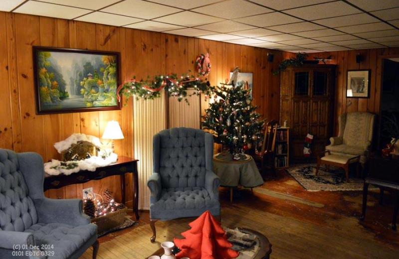 Inn interior at Edgewater Inn & Cottages.