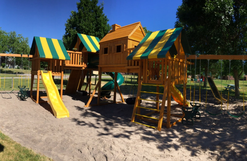 Playground at Southview Cottages Resort.