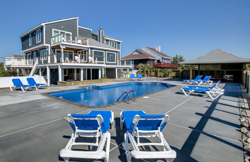 Rental pool at Sandbridge Blue Vacation Rentals.