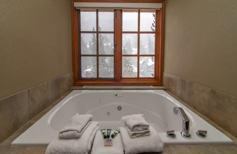 Guest hot tub at Banff Caribou Lodge & Spa.