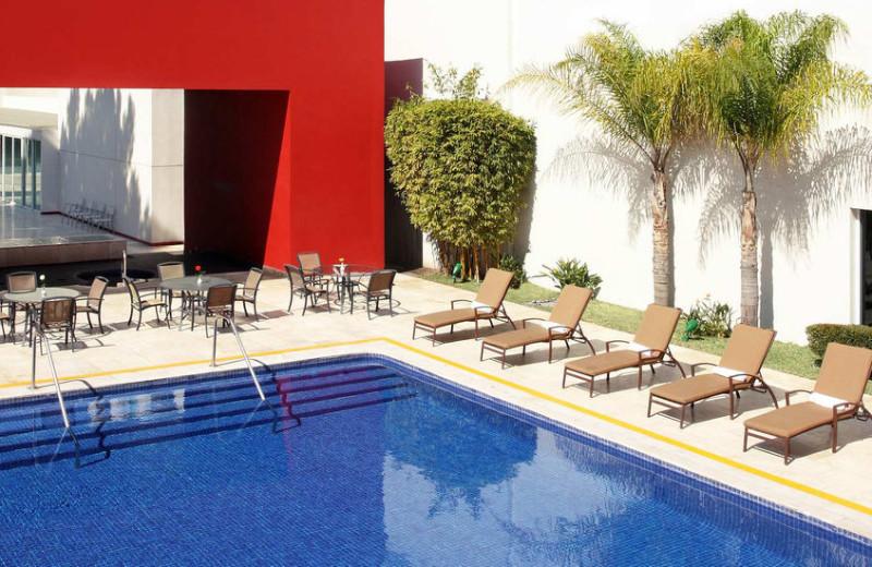 Outdoor pool at Tijuana Marriott Hotel.