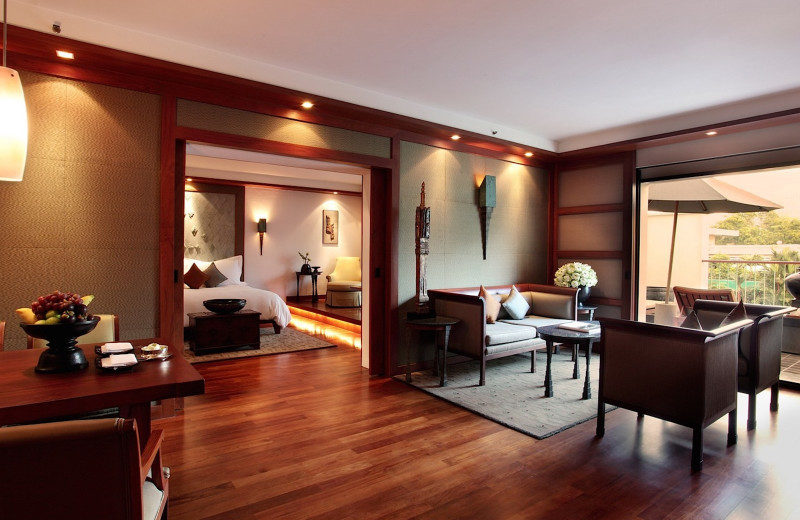 Guest room at The Sukhothai.