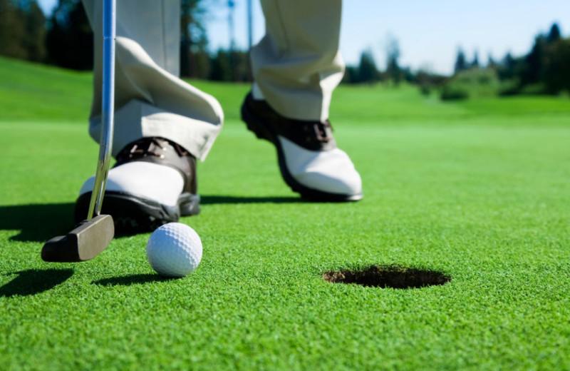 Golf course near Berlin Grande Hotel.