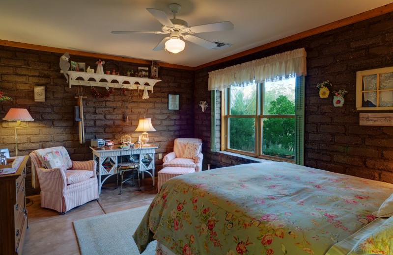Guest room at Desert Dove Bed and Breakfast.