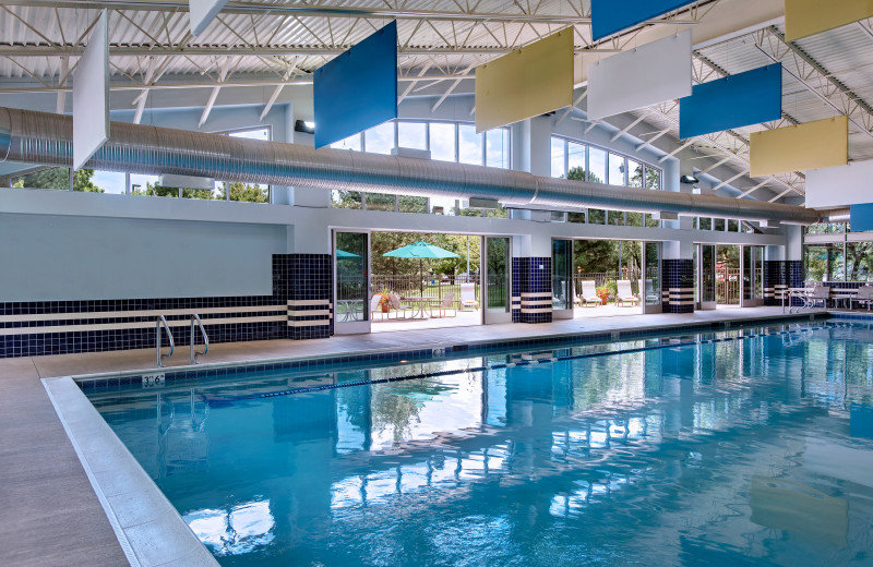 Indoor pool at Eaglewood Resort & Spa.