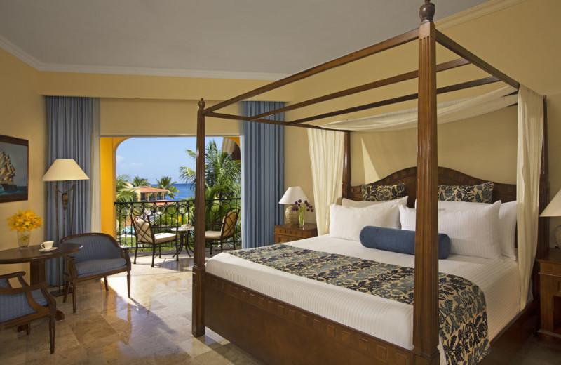 Guest room at Secrets Capri Riviera Cancun.